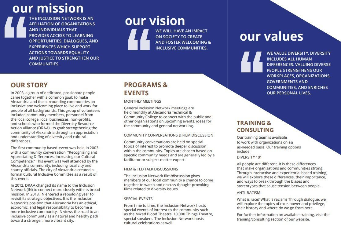 Inclusion Network Brochure