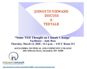 ted talk on climate change flyer